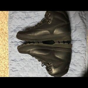 Timberland Black Euro Hiker Boots Men's Size 10